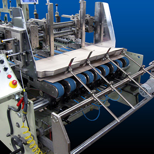 Signature Eagle Folder Gluer for folding carton or corrugated Feed Section