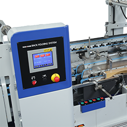Signature Folder Gluer Premier Servo Backfold system